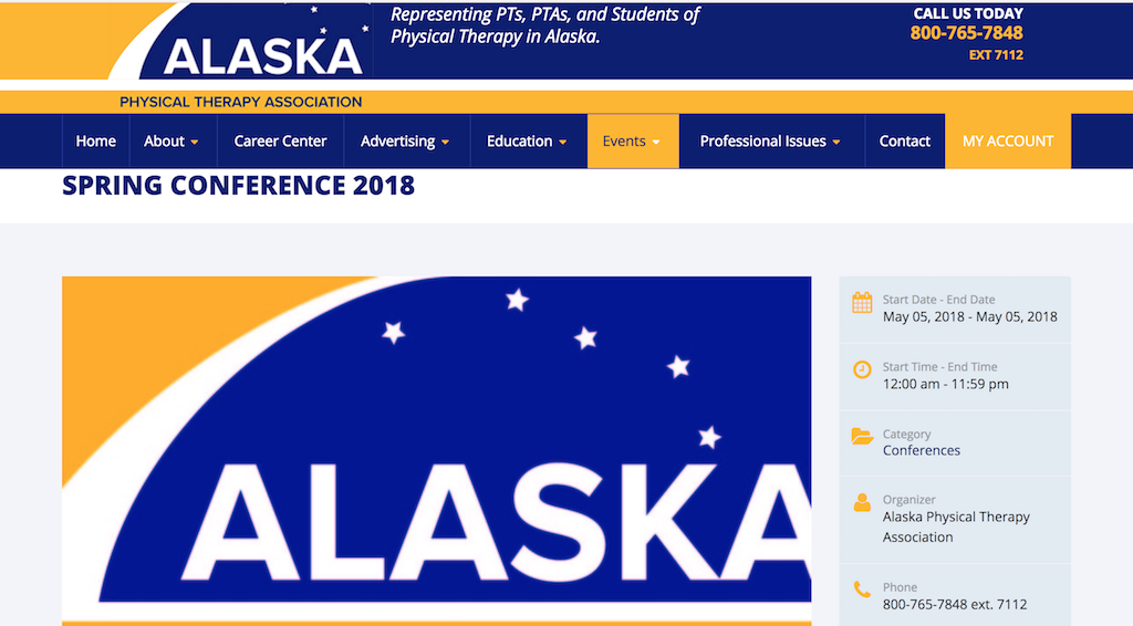 Alaska Physical Therapy Association Spring Conference