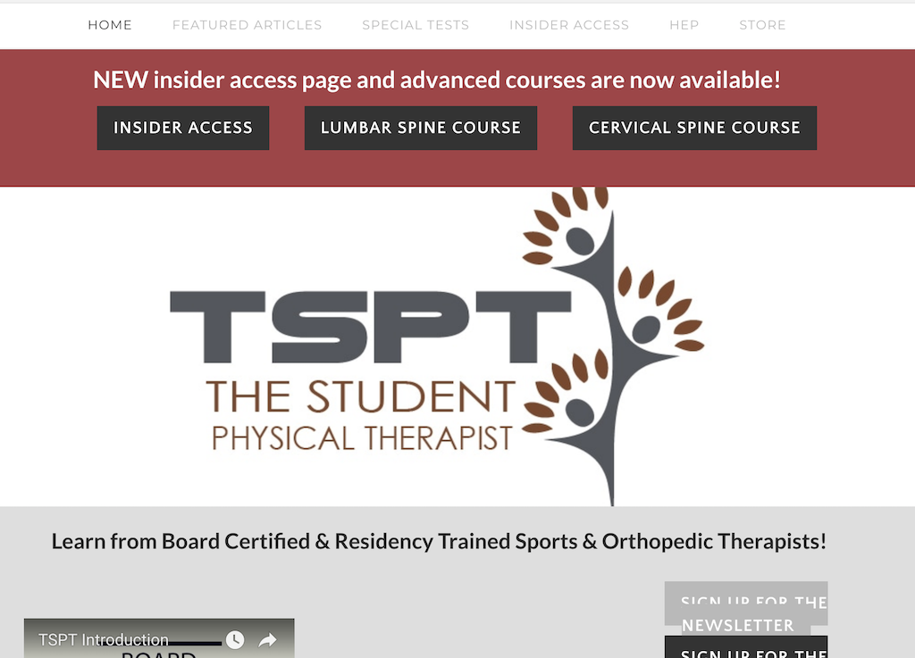 www.thestudentphysicaltherapist.com
